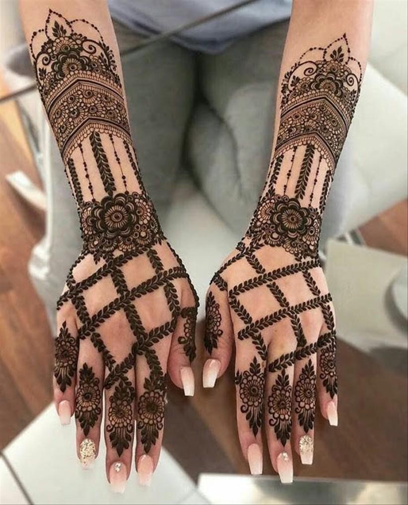 mehndi patterns arabic design