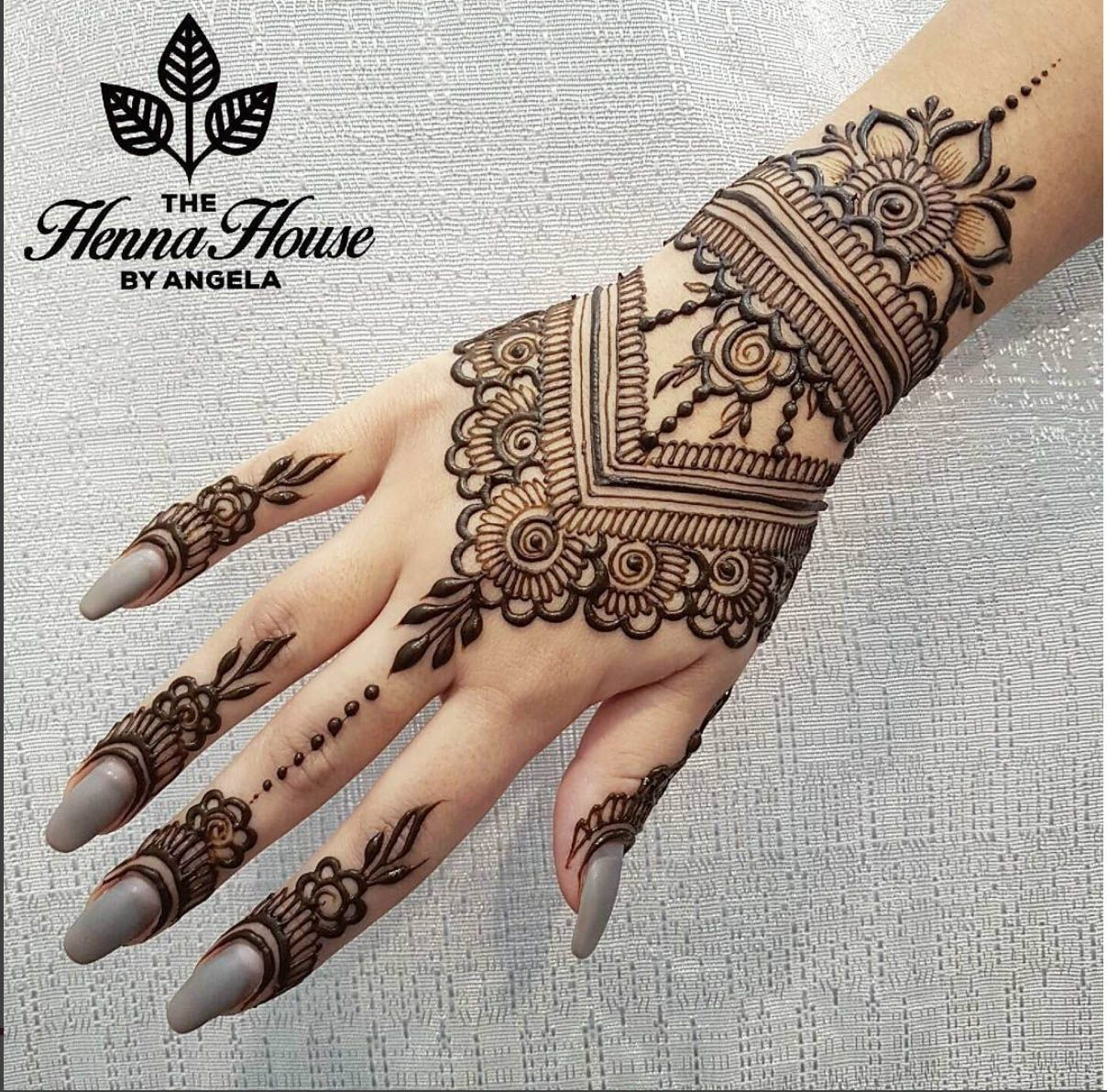 mehndi patterns floral back hand by angela