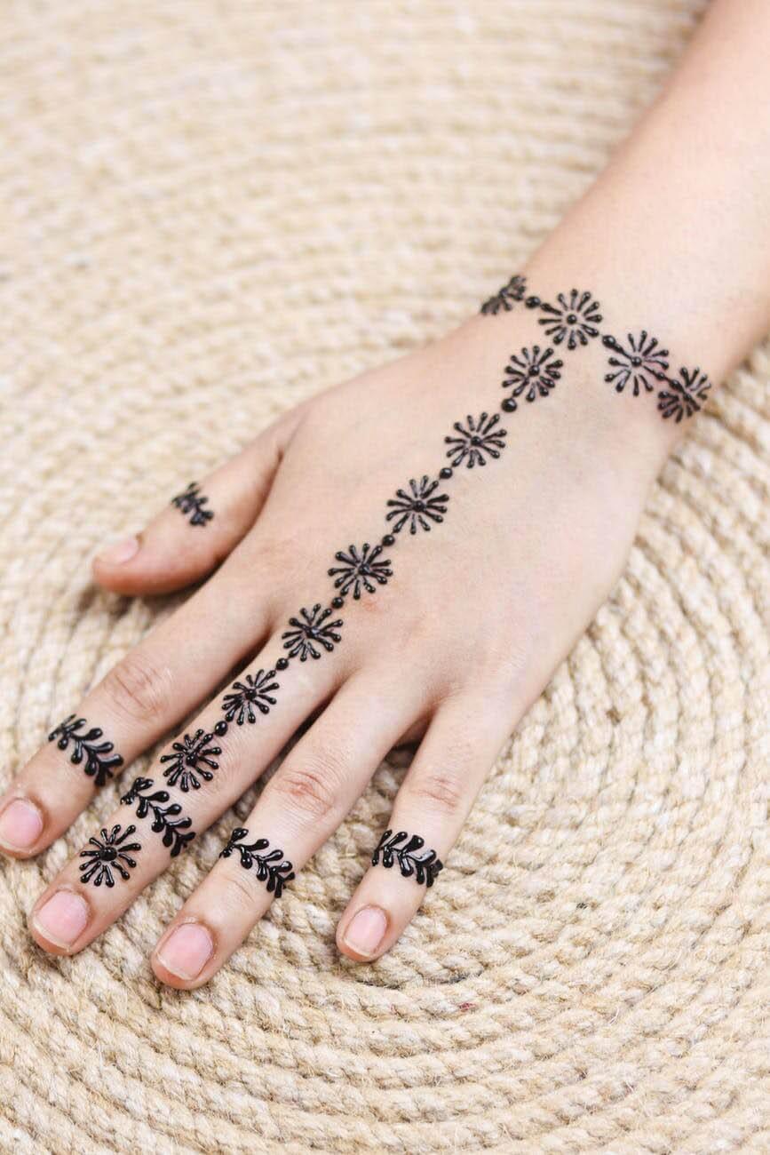 mehndi patterns finger rings