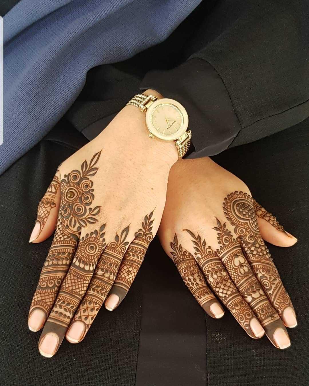 raksha bandan mehndi design floral back hand