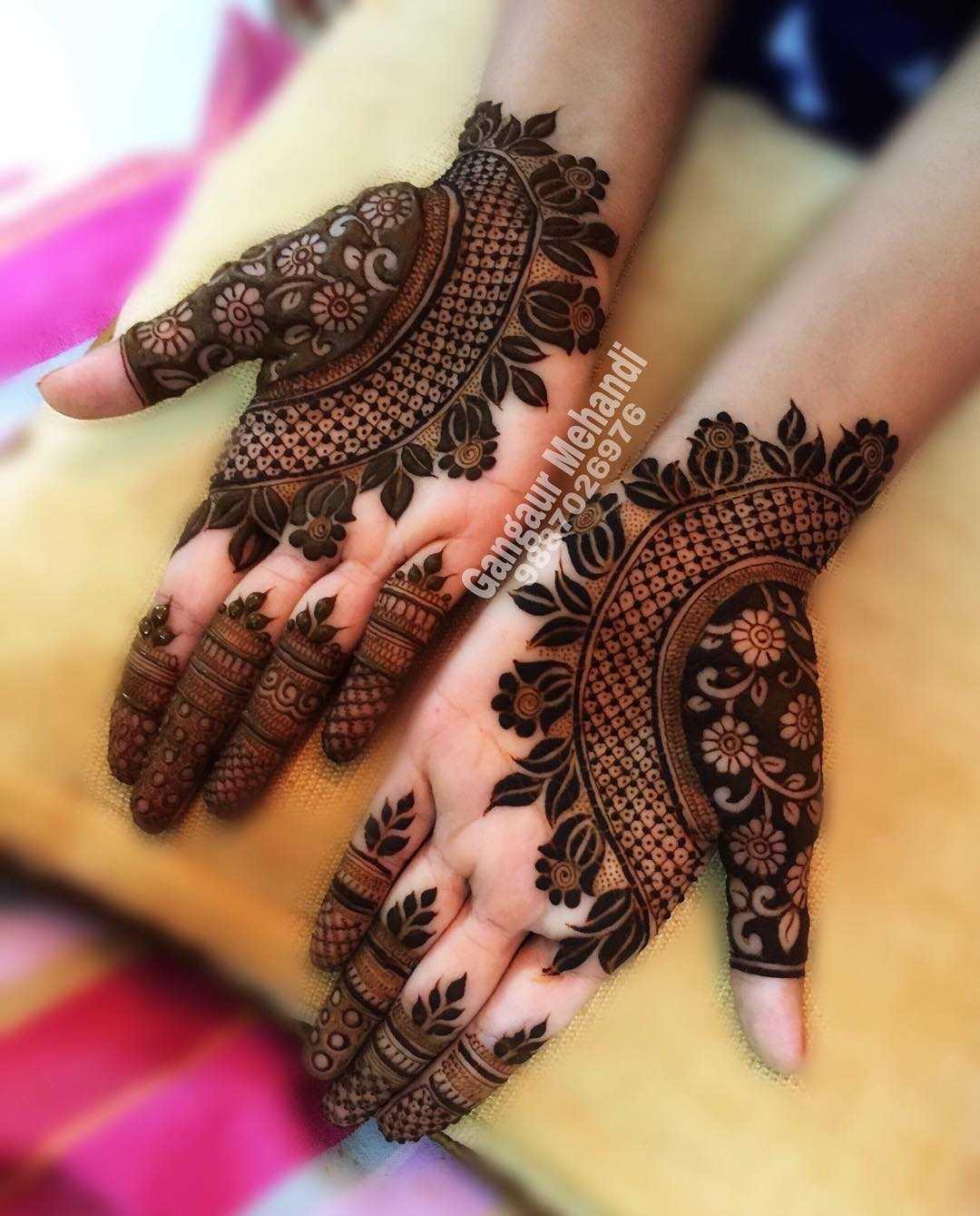 raksha bandan mehndi design grids by gangaur