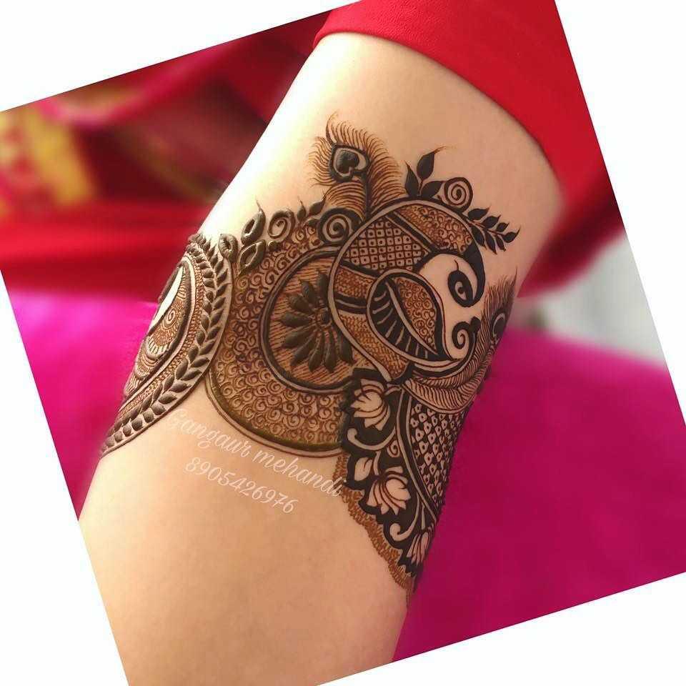 raksha bandan mehndi design peacock mandala by ganguar