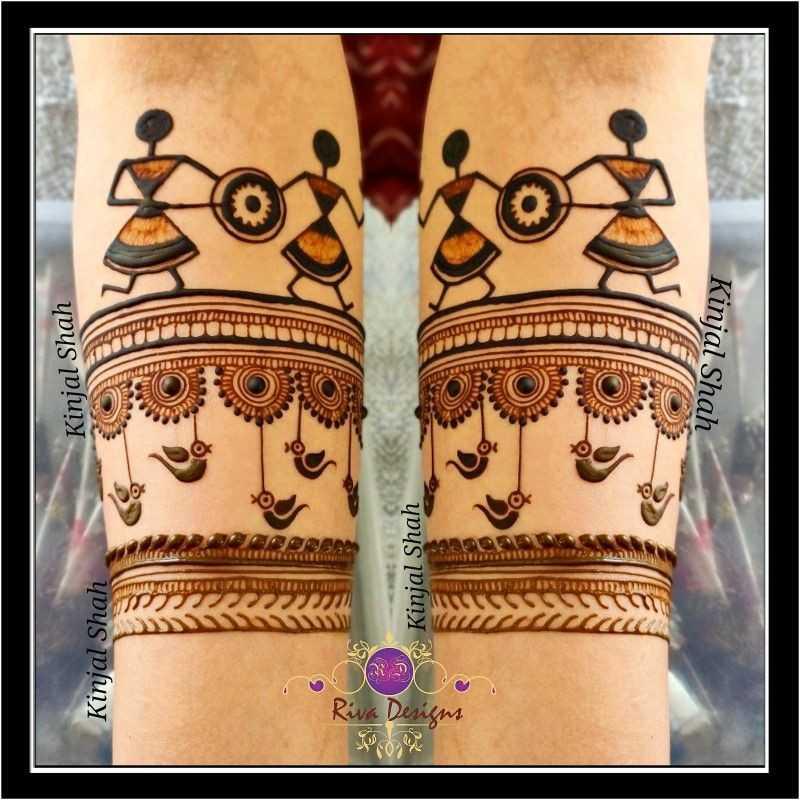 raksha bandan mehndi design warli dance by kinjal shah