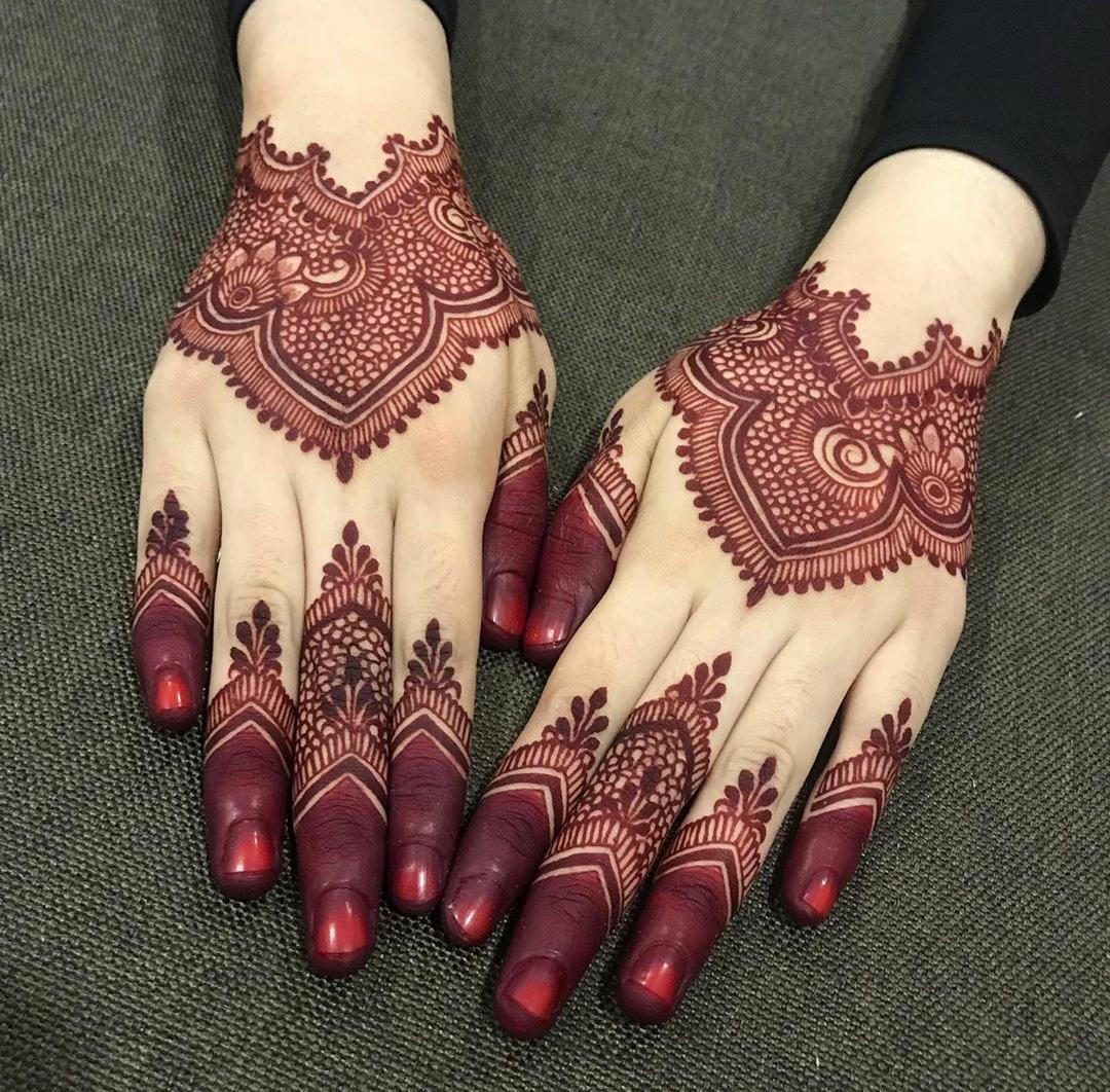 raksha bandan mehndi design back hand latest