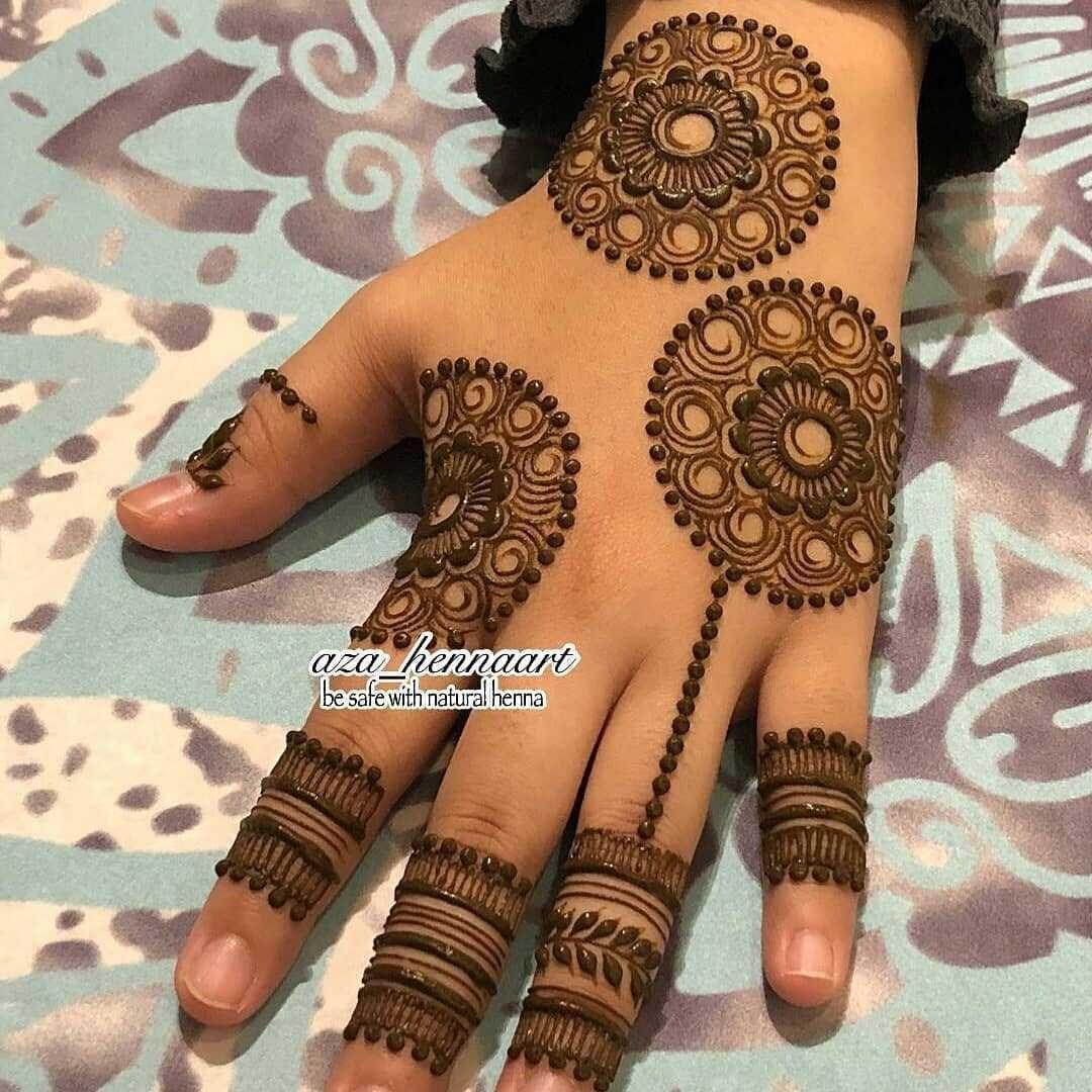 raksha bandan mehndi design back hand by aza