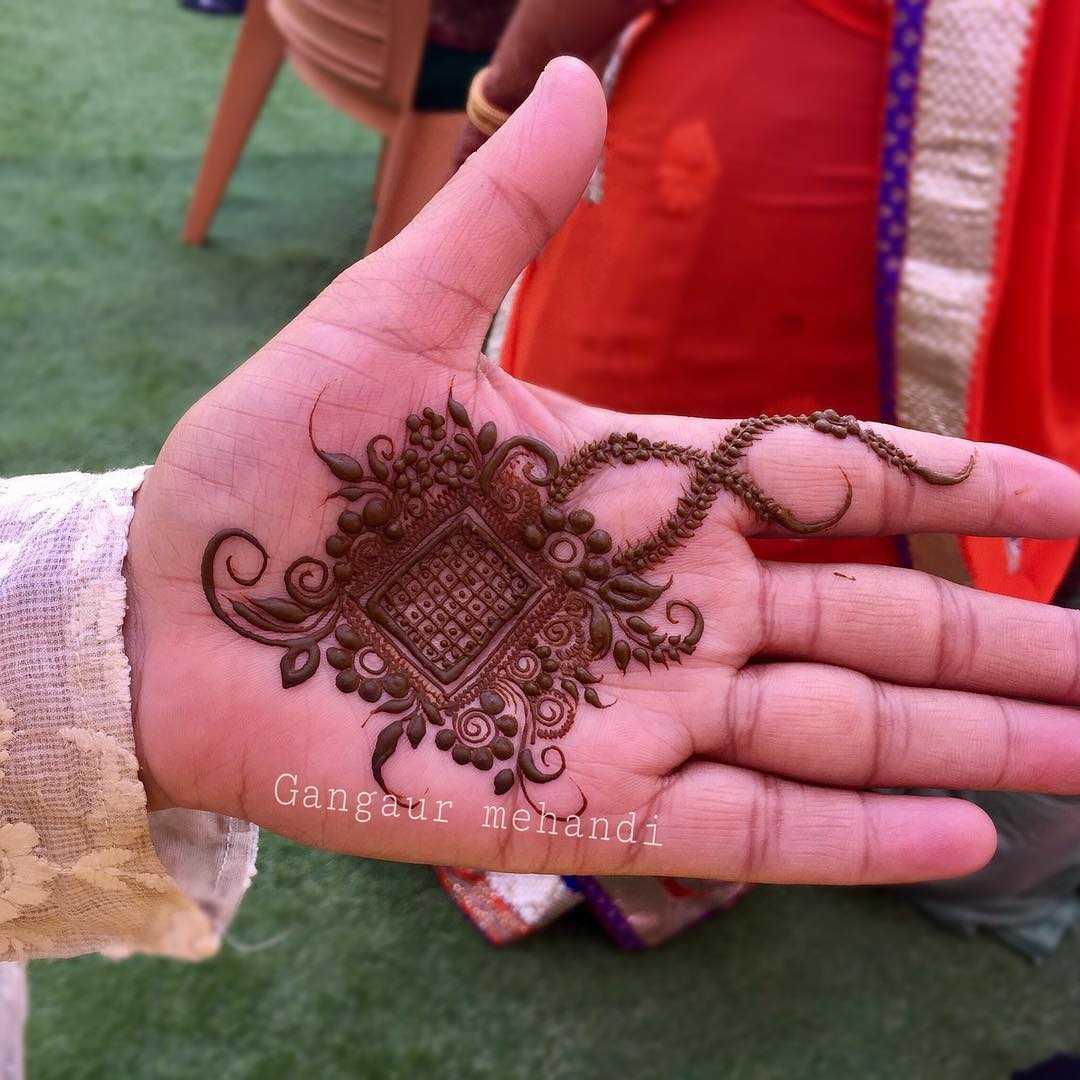 raksha bandan mehndi design minimal by gangaur