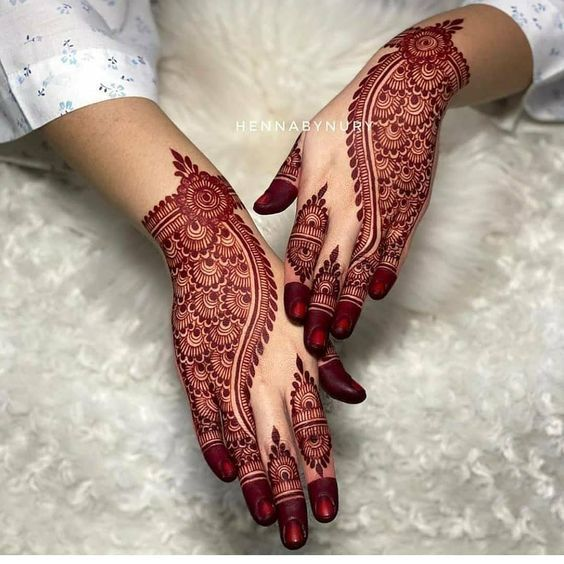 batik mehndi design eid back hand