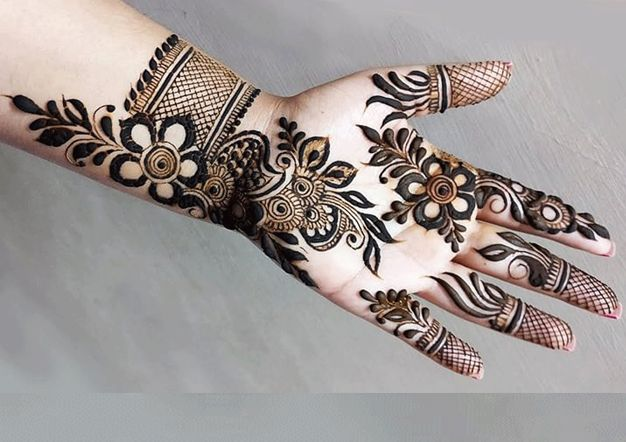 floral mehndi design pakistani by kfoods