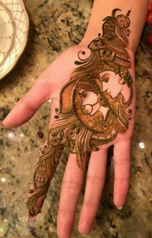 indian mehndi design krishna