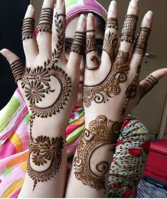 indo arabic mehndi design jewellery