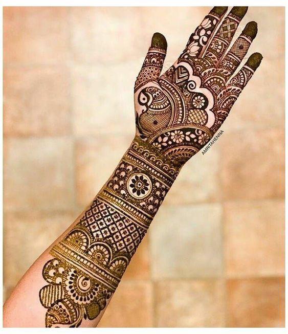 indo arabic mehndi design wedding
