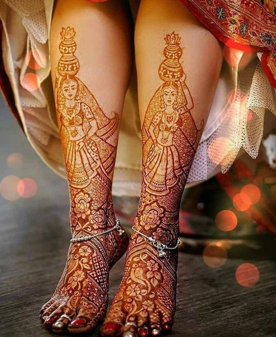 leg mehndi design bridal mehndi design dancing women full feet