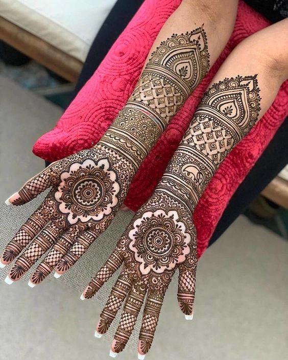 mandala bridal full hand