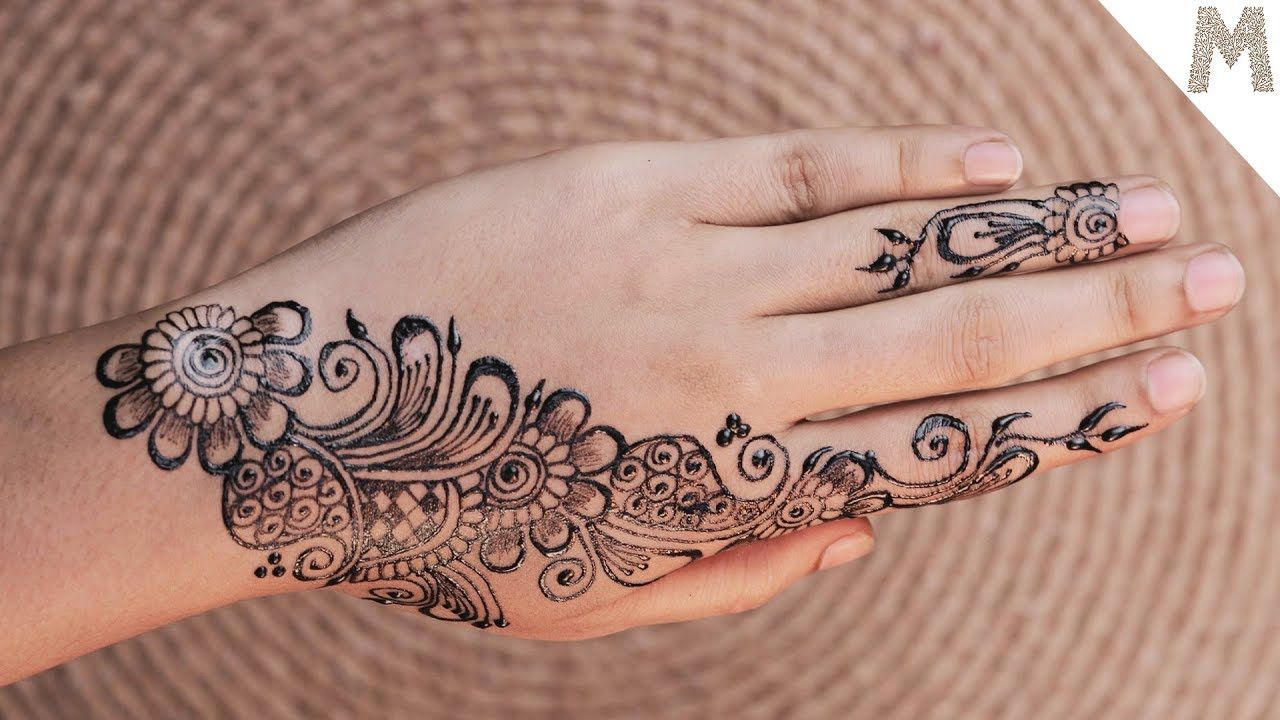 13 easy floral arabic mehndi designs for hands