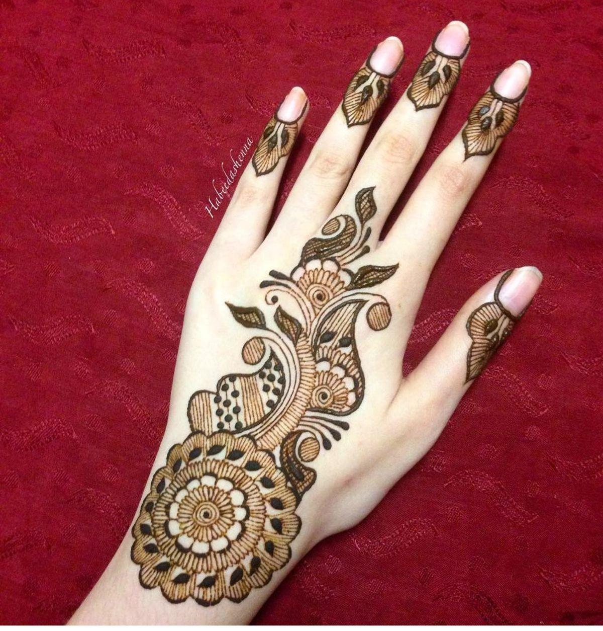 14 easy leaf mehndi designs for hands