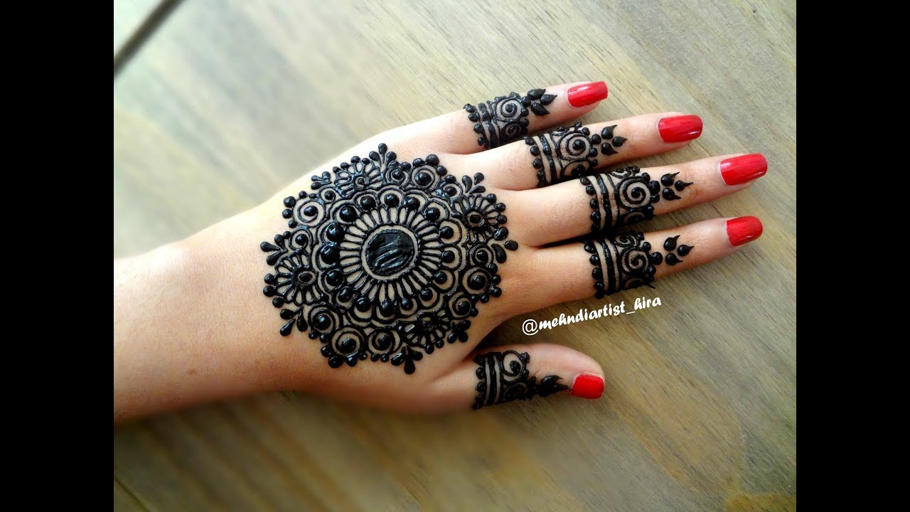 17 easy arabic mehndi designs for hands by hira