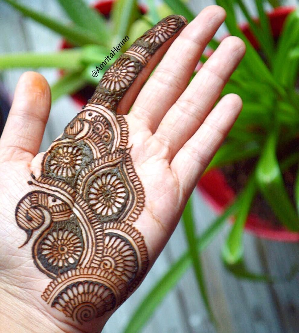 19 simple arabic mehndi designs for hands by amritahenna