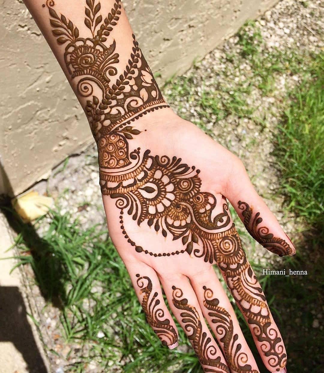 2 easy arabic mehndi designs for hands