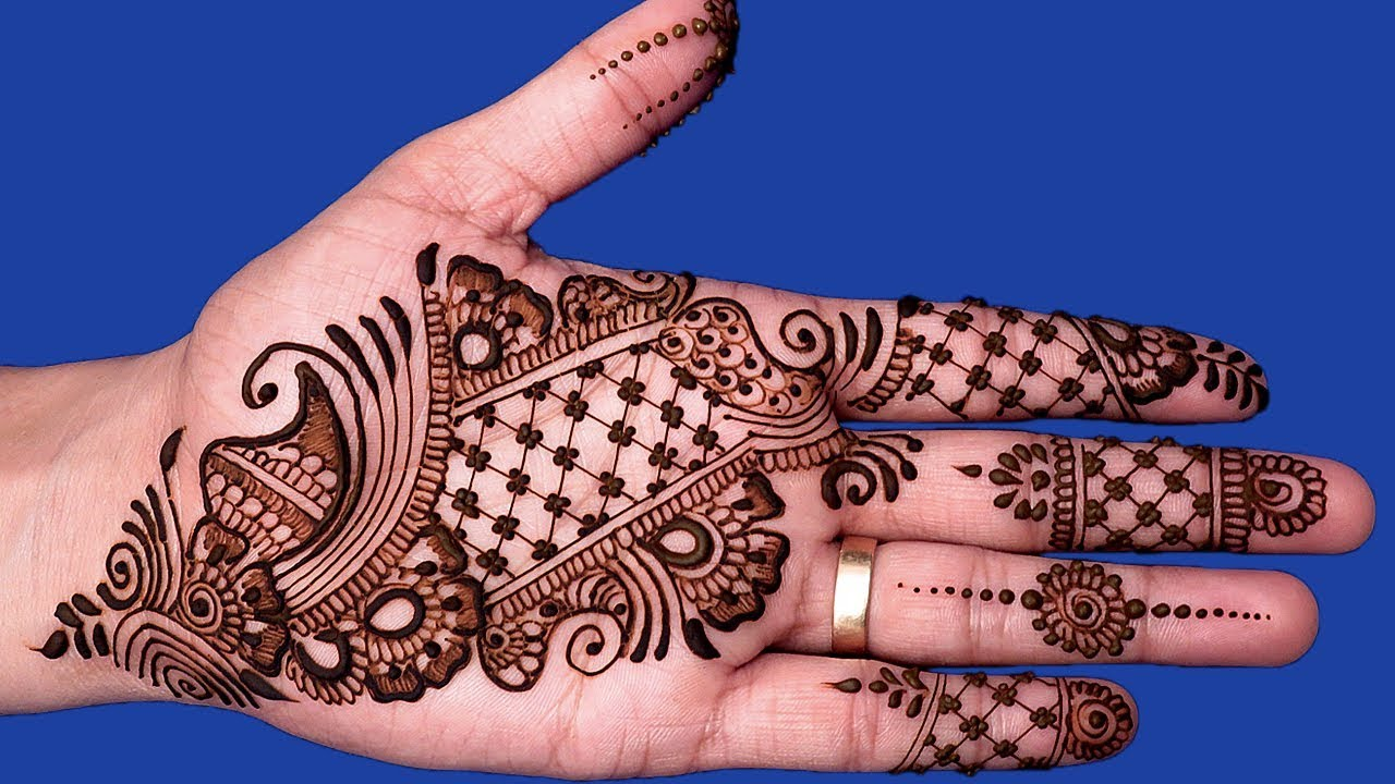 21 easy checked arabic mehndi designs for hands