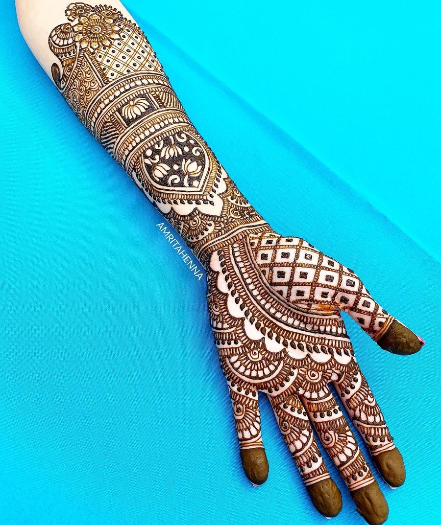 23 simple patern arabic mehndi designs for hands by amritahenna