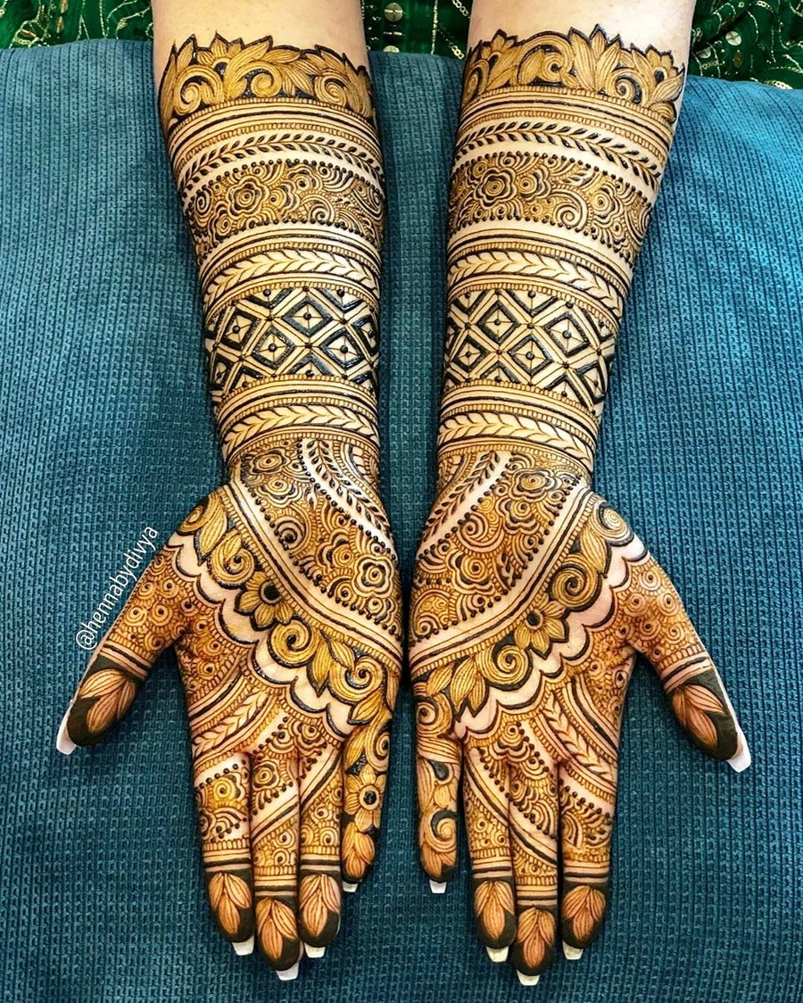 24 simple arabic mehndi designs for hands by divya