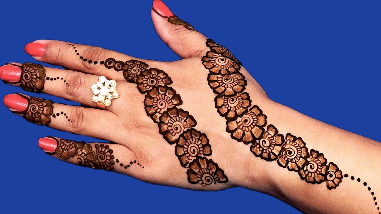29 easy and creative arabic mehhdi designs for hands