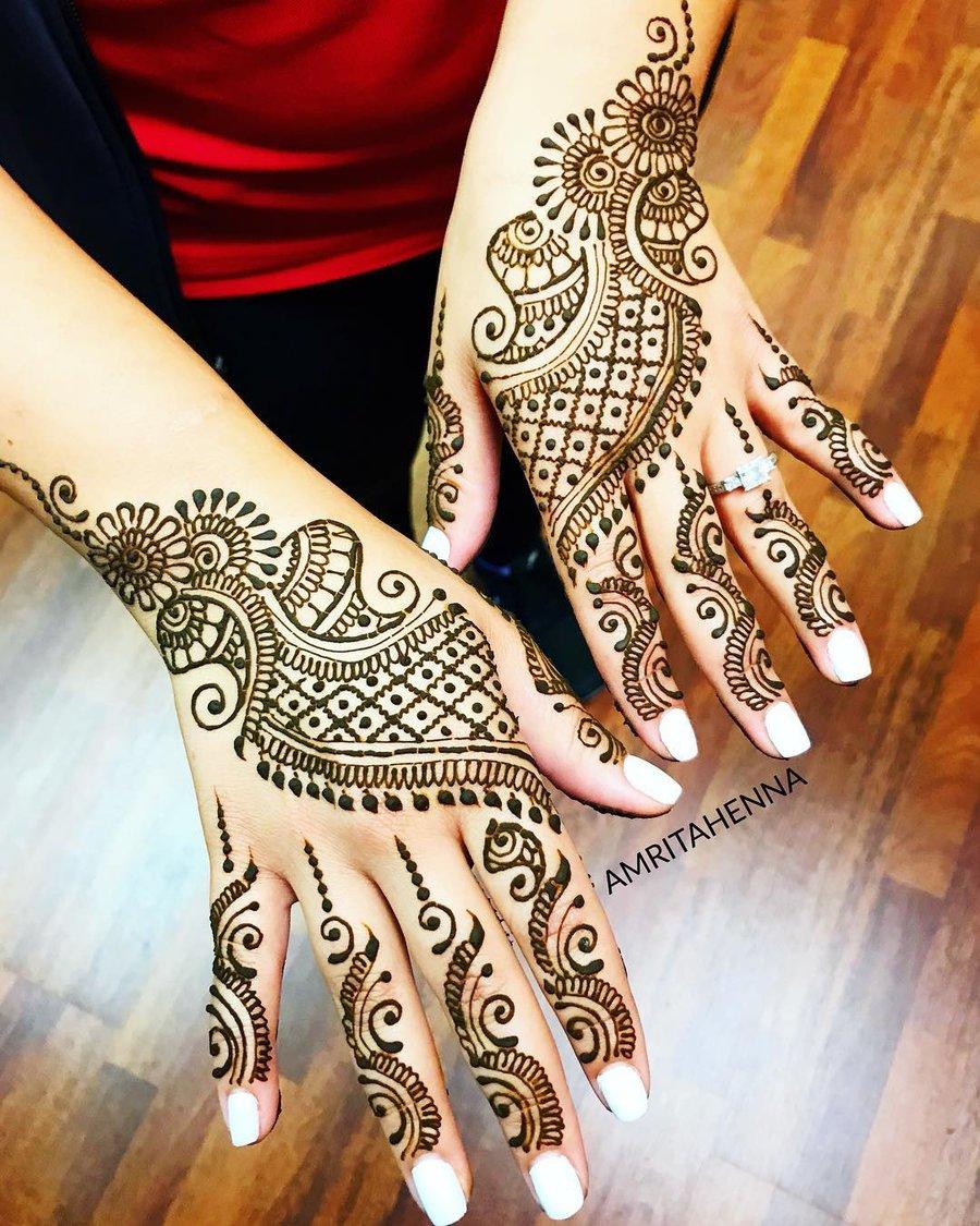 4 simple arabic mehndi designs for hands