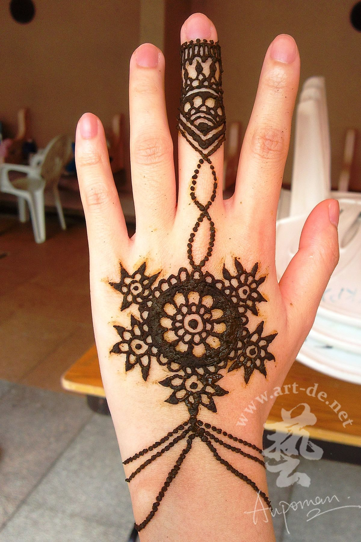 6 simple arabic mehndi designs for fore hands