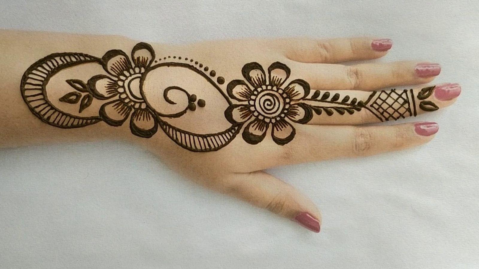 8 easy simple arabic mehndi designs for hands