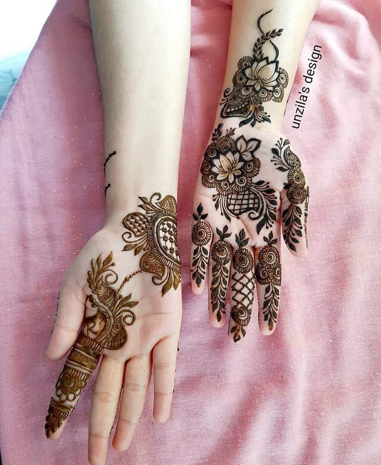 arabic mehndi design floral by unzila