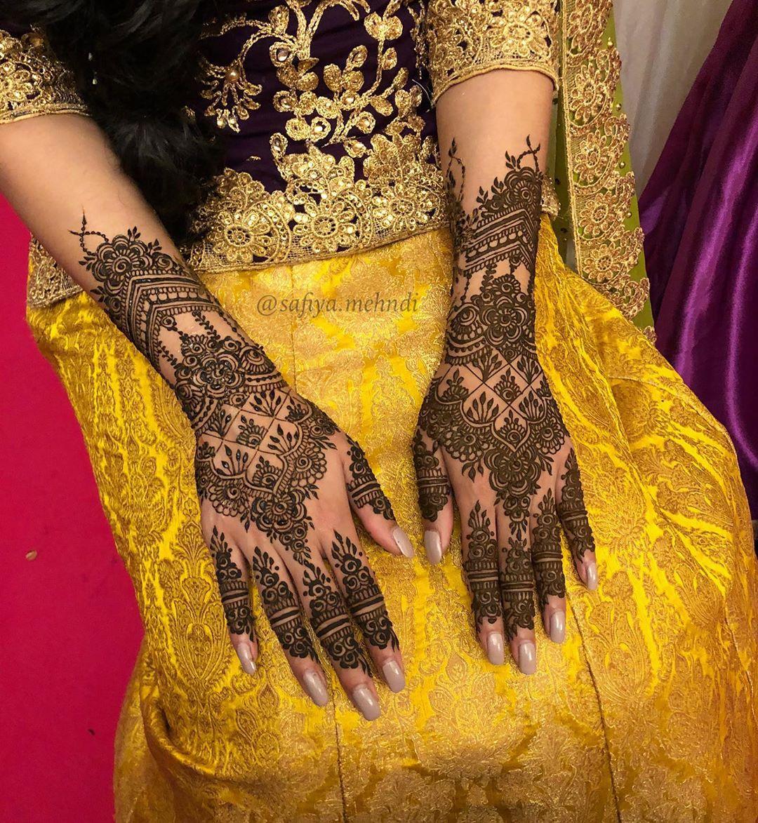 backhand mehndi design eid