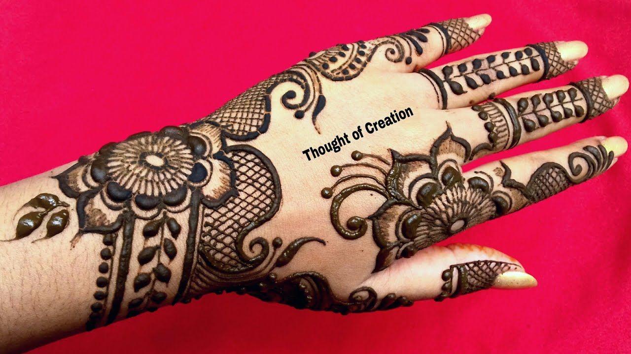 backhand mehndi design floral