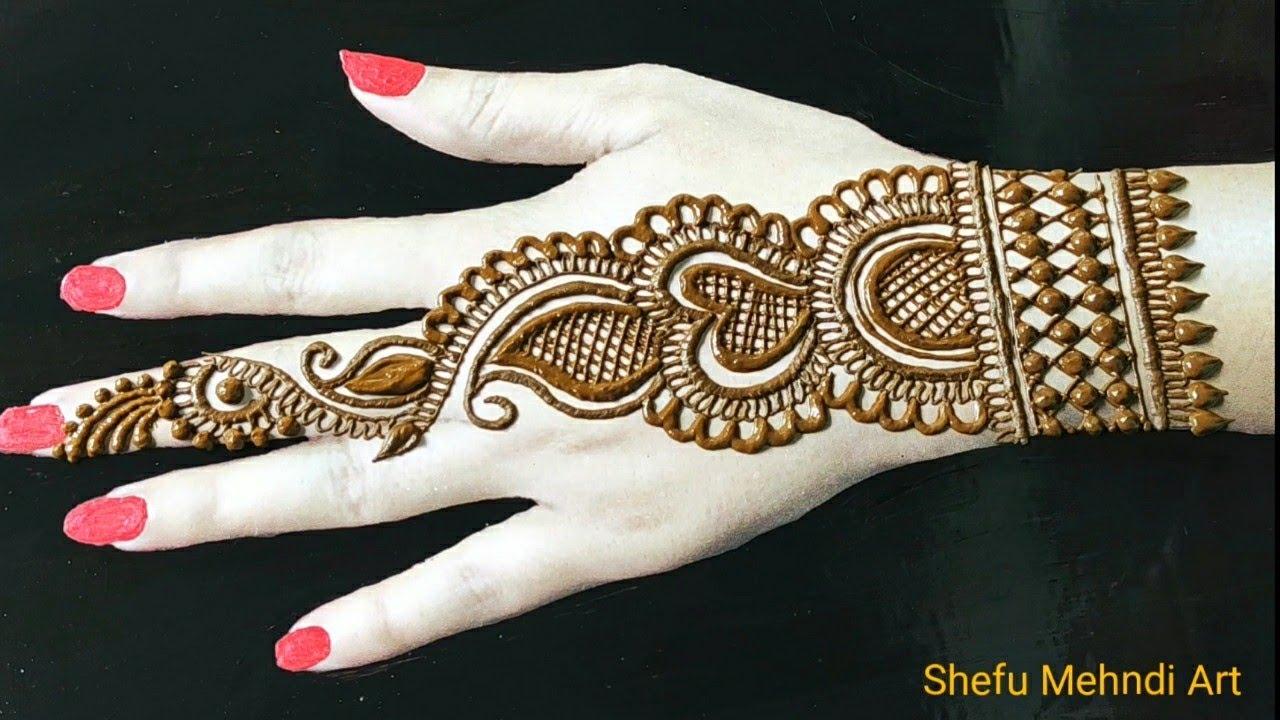 backhand mehndi design party