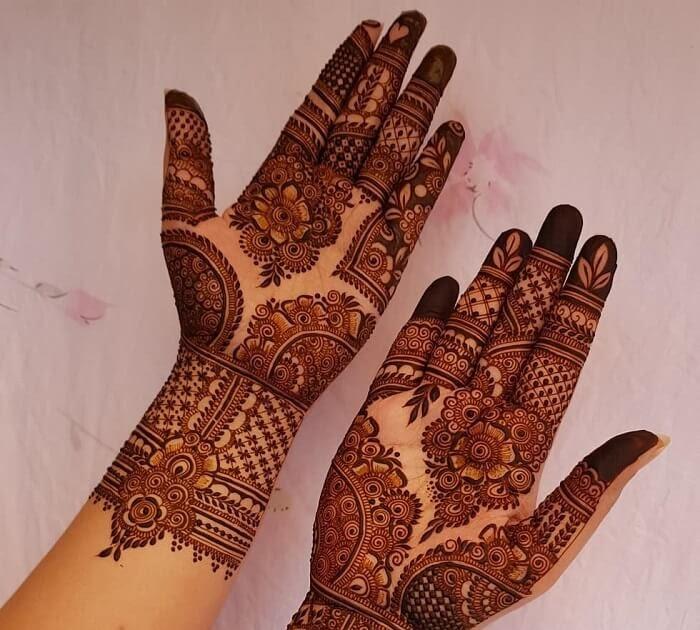 batik mehndi design full hand