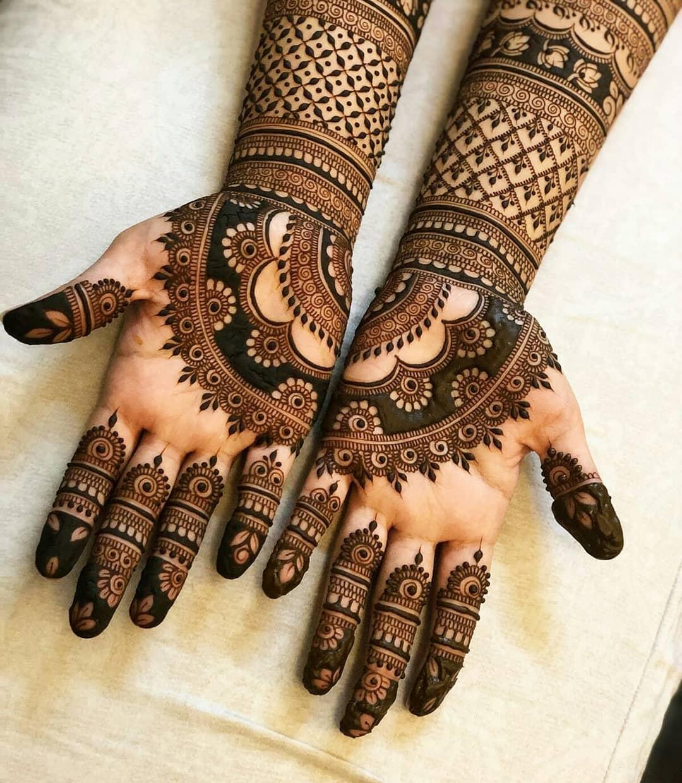 bridal mehndi design arabic