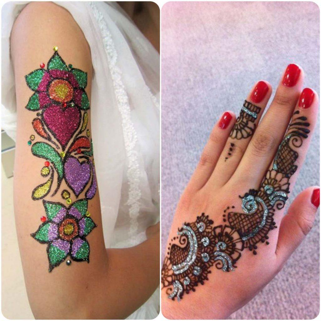 color mehndi design tattoos floral