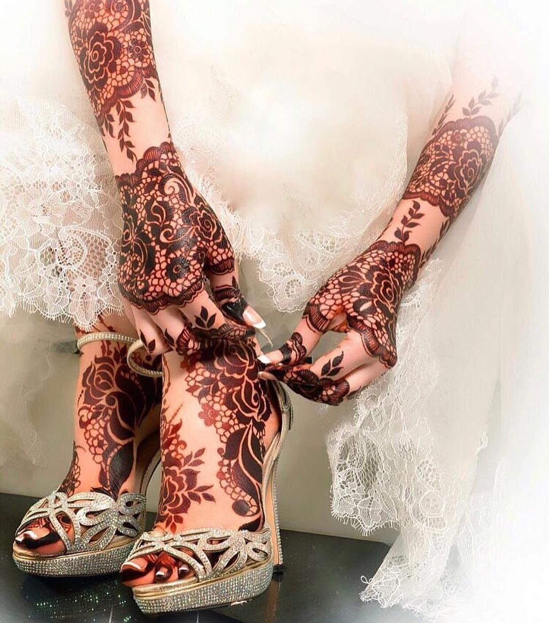 pakistani mehndi design for wedding