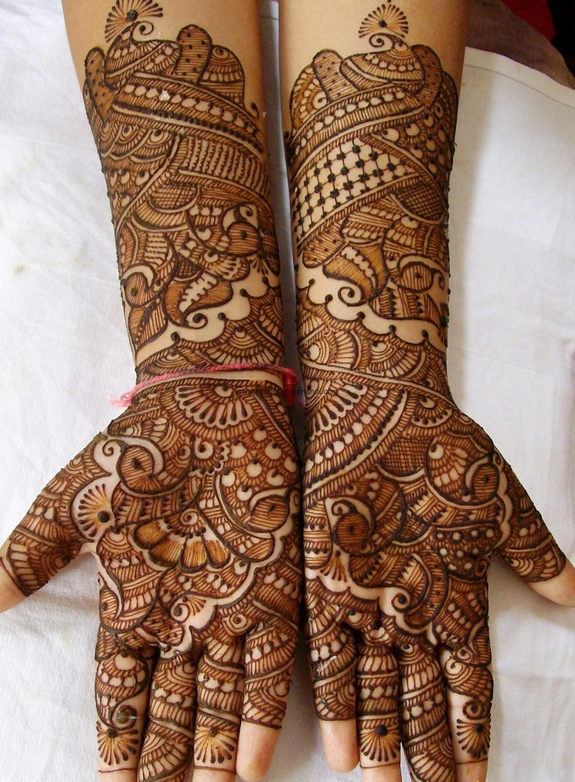 pakistani mehndi designs for bridal