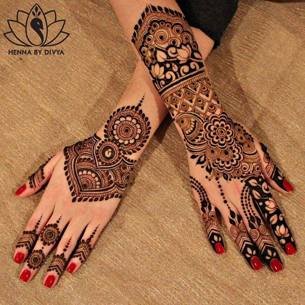 pakistani mehndi designs by divya