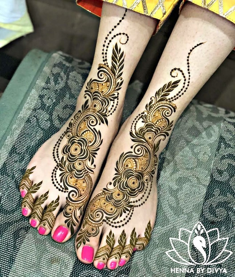 pakistani mehndi designs for feet henna