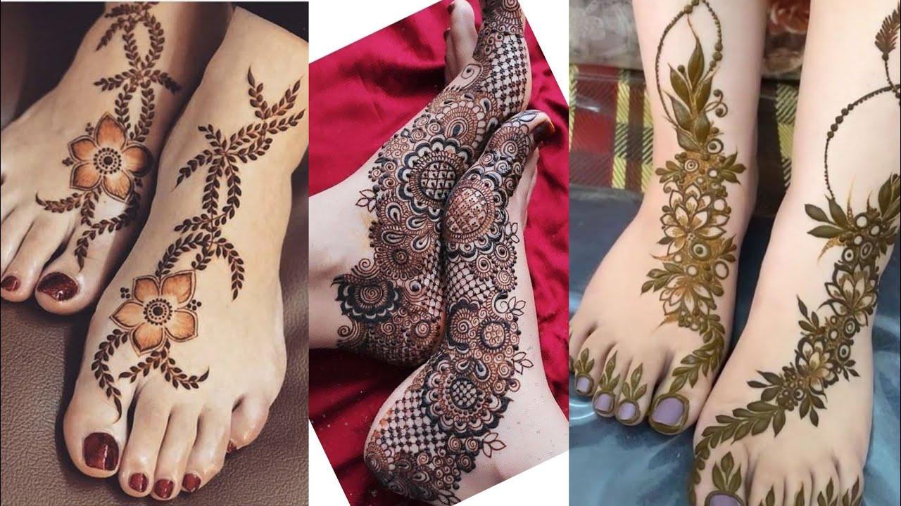 pakistani mehndi designs floral feet
