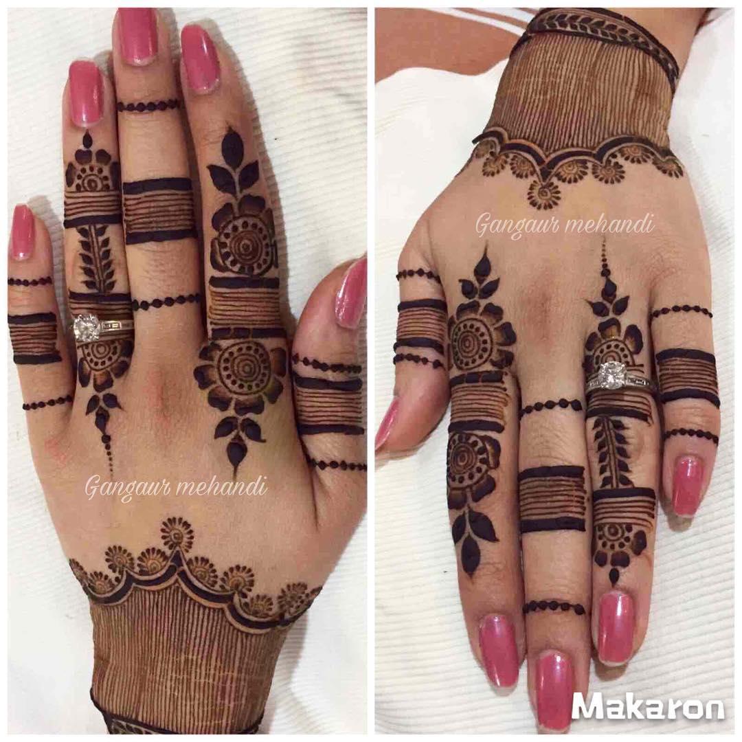 rajasthani mehndi design back hand