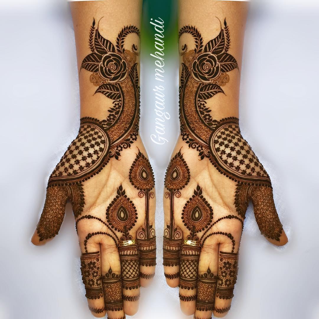 rajasthani mehndi design full hand