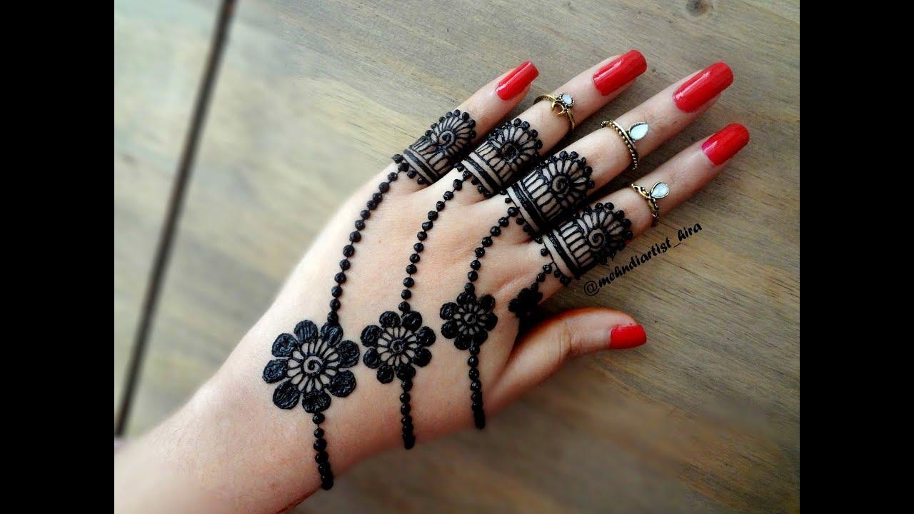 simple easy mehndi design jewellery