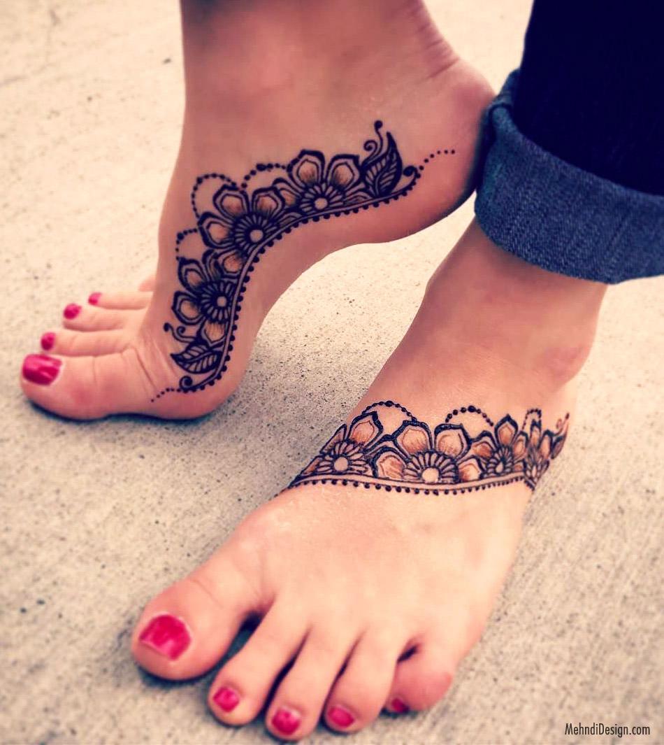 7 leg mehndi design arabic style