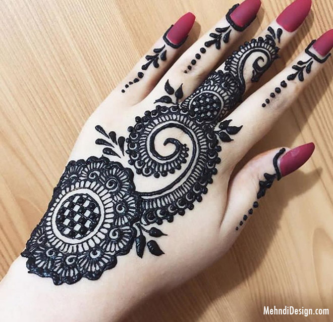 arabic mehndi design for backhand