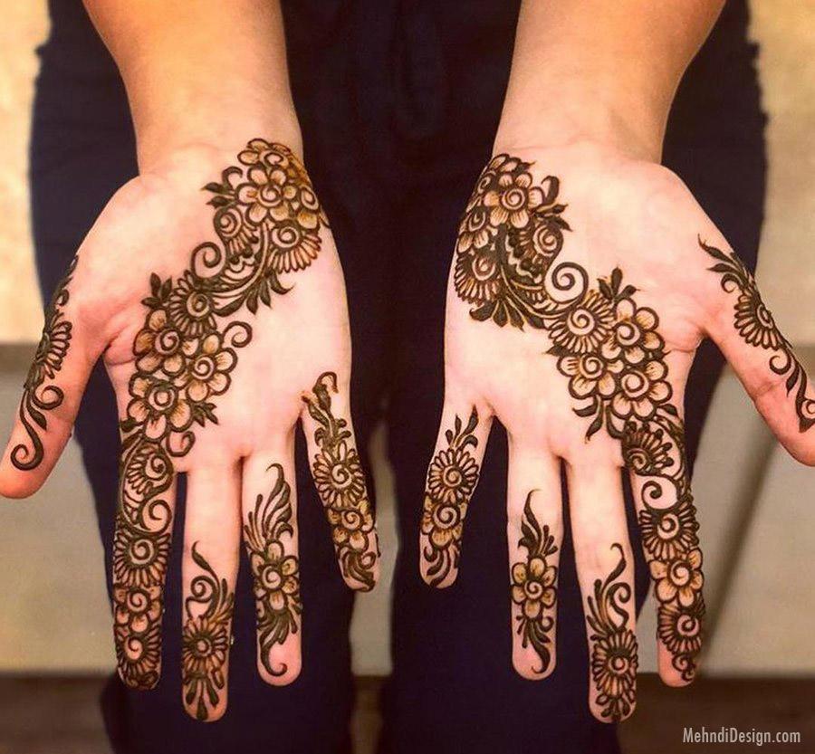 arabic mehndi design floral pattern