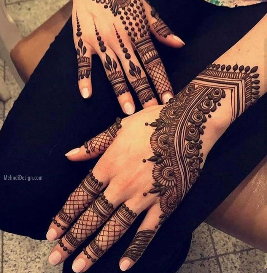 arabic mehndi design pattern fore hand