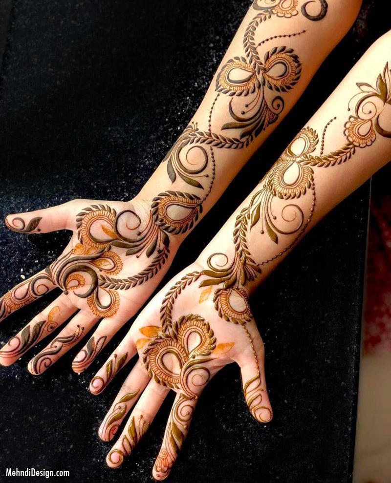 arabic mehndi design pattern full hand