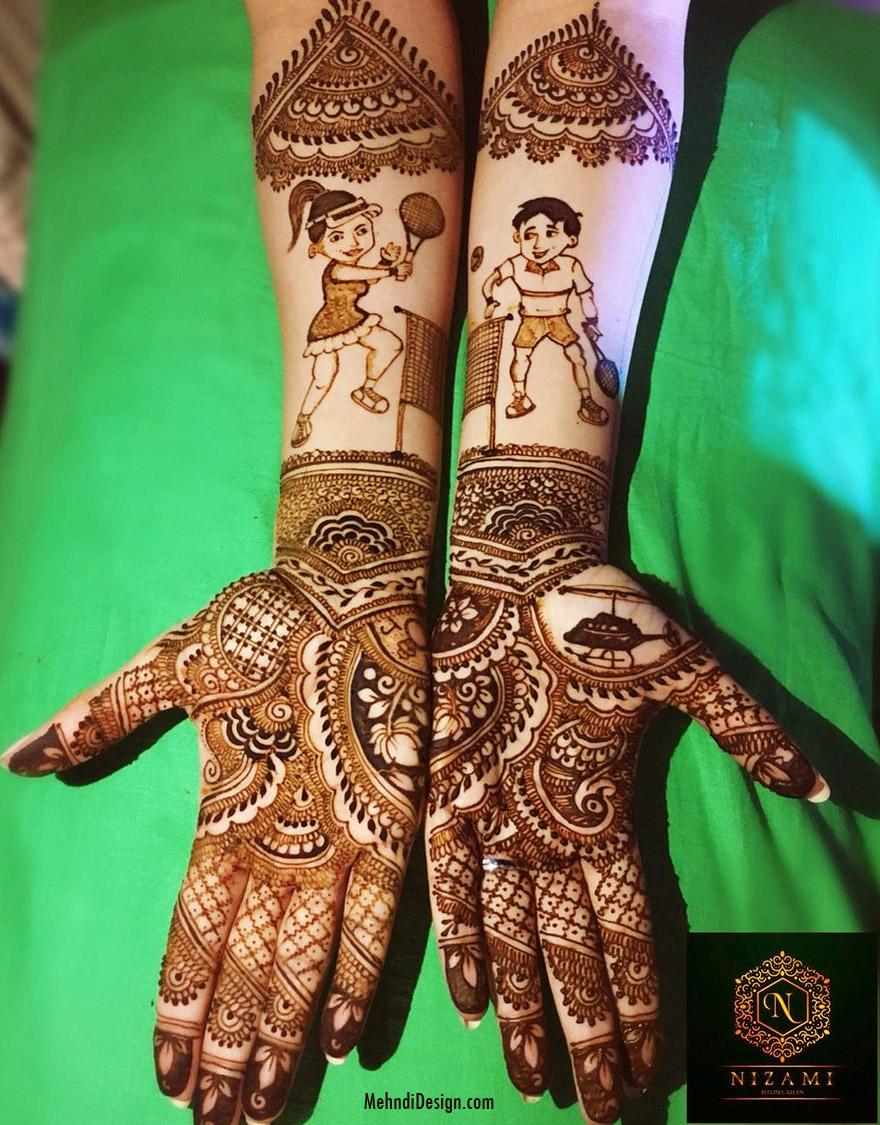 bridal mehndi design for back hand